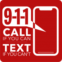 Image 911 call if you can text if you can't